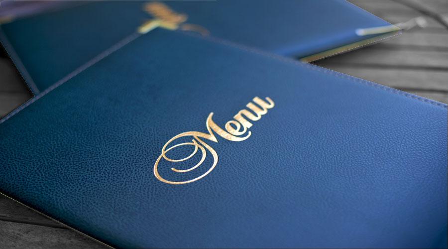 Porte-menu classique pour restaurant gastronomique